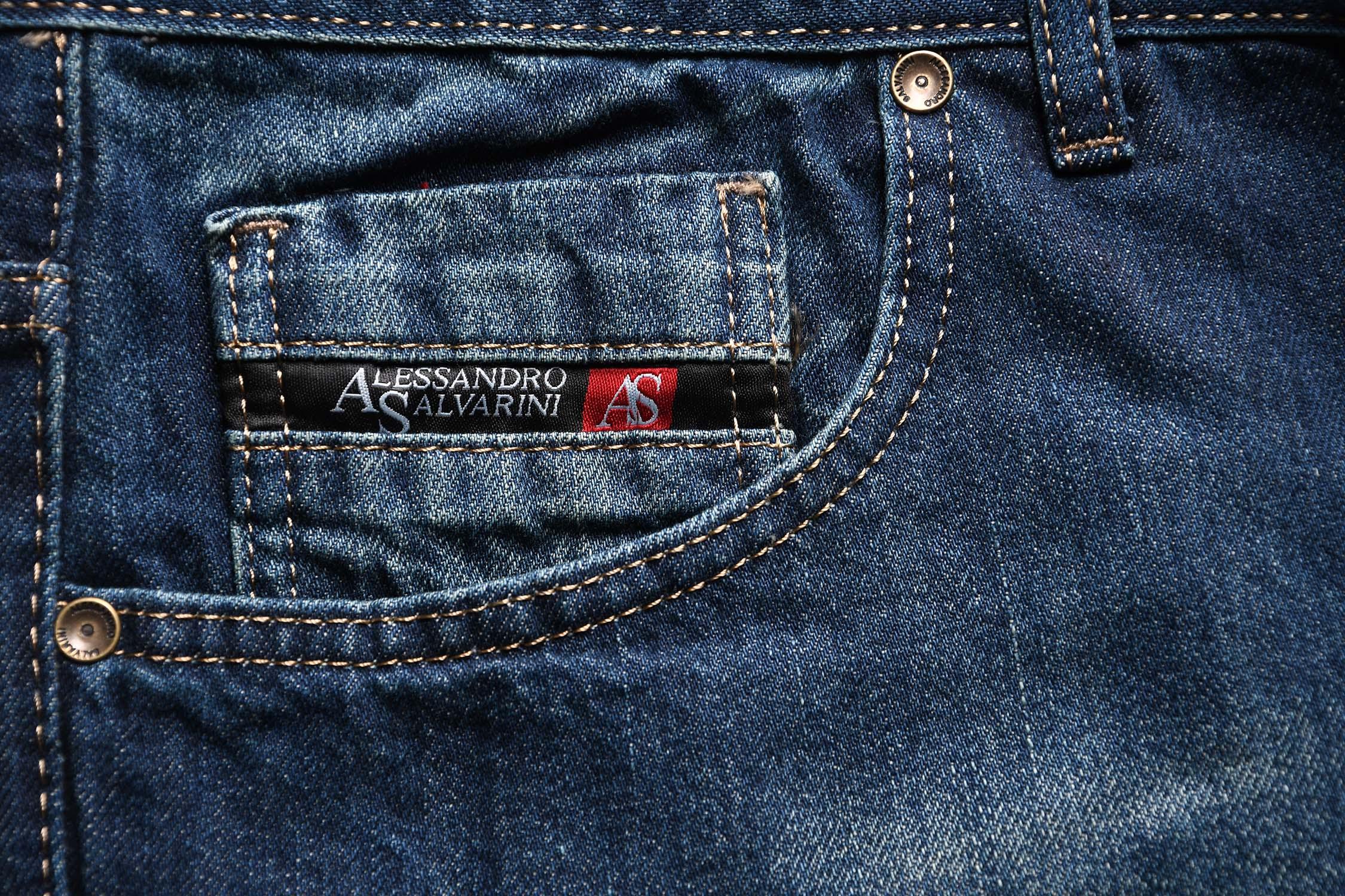 A-Salvarini-Beppo-Designer-Herren-Jeans-Hose-Basic-Jeanshose-Comfort-Fit Indexbild 15