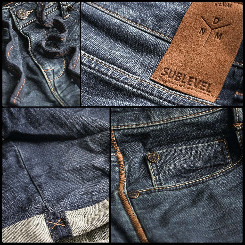 Sublevel-Herren-Sweat-Jeans-Shorts-kurze-Hose-Bermuda-Sommer-Sweathose-Slim-NEU Indexbild 51