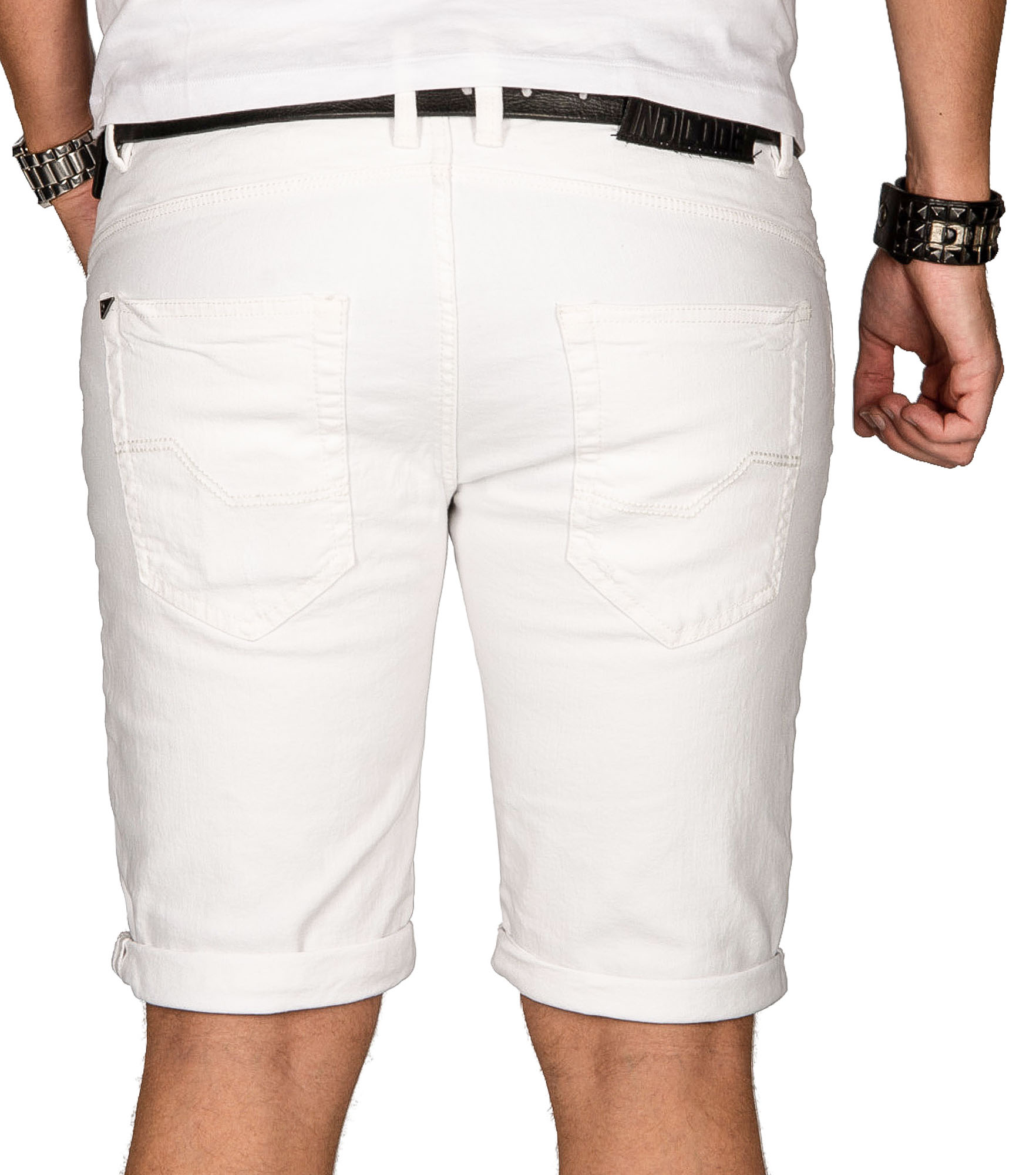 Indicode-Herren-Sommer-Bermuda-Jeans-Shorts-kurze-Hose-Sommerhose-Short-Neu-B556 Indexbild 17