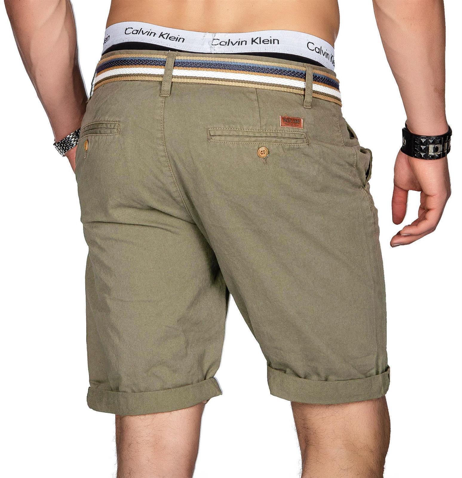 Indicode-Herren-Sommer-Bermuda-Chino-Shorts-kurze-Hose-Sommerhose-Short-NEU-B499 Indexbild 36