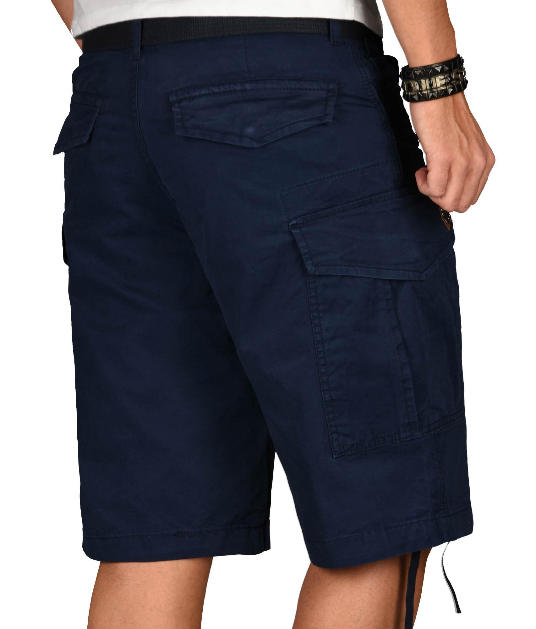 A-Salvarini-Herren-Comfort-Cargo-Shorts-Cargoshorts-kurze-Hose-Guertel-AS133-NEU Indexbild 20