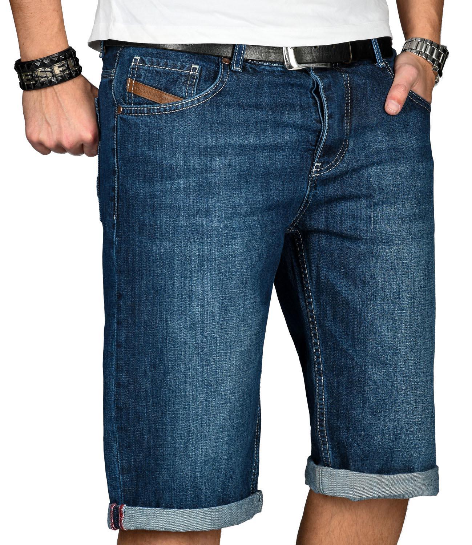 A-Salvarini-Designer-Herren-Jeans-Short-kurze-Sommer-Hose-Jeansshorts-Bermuda Indexbild 18