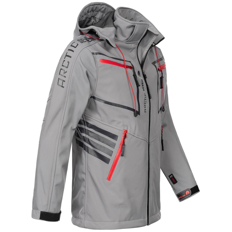 Arctic-Seven-Herren-Designer-Softshell-Funktions-Outdoor-Regen-Jacke-Sport-AS088 Indexbild 22