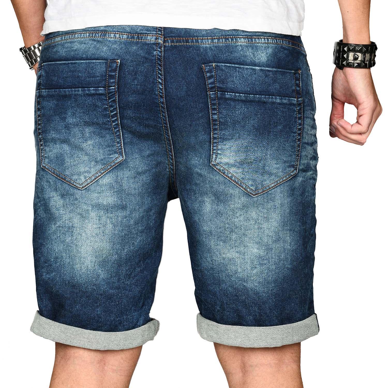 Sublevel-Herren-Shorts-Sweat-Jeans-kurze-Hose-Bermuda-Sommer-Short-Sweathose Indexbild 10