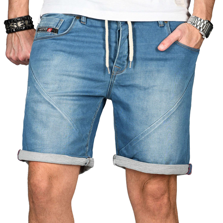 A-Salvarini-Herren-Jeans-Short-kurze-Hose-Sommer-Shorts-Bermuda-Comfort-fit-NEU Indexbild 9