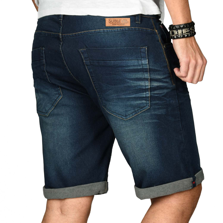 Sublevel-Herren-Shorts-Sweat-Jeans-kurze-Hose-Bermuda-Sommer-Short-Sweathose Indexbild 19