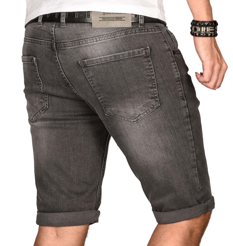 A-Salvarini-Herren-Designer-Jeans-Short-kurze-Hose-Slim-Sommer-Shorts-Bermuda Indexbild 30