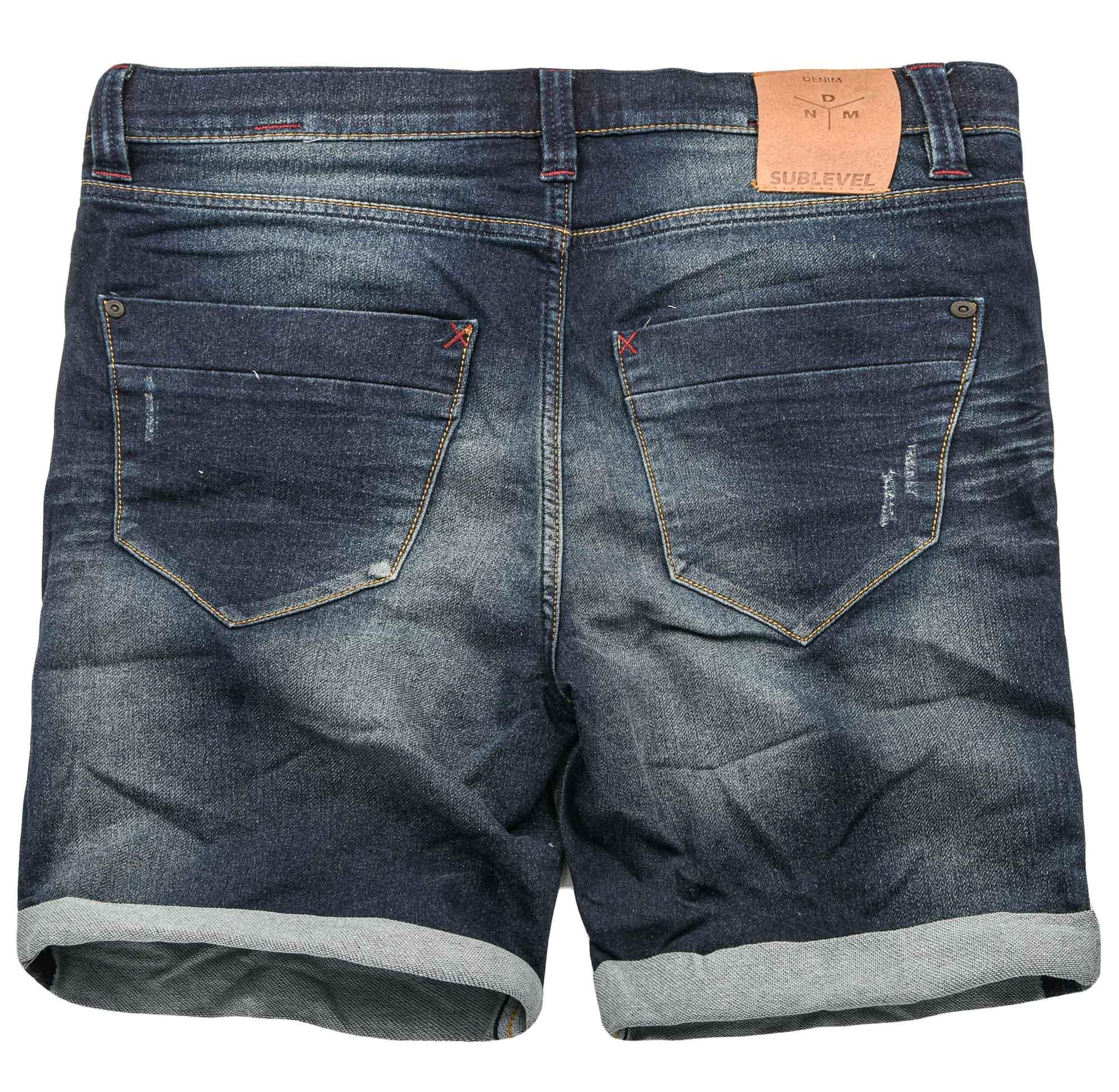 Sublevel-Herren-Sweat-Jeans-Shorts-kurze-Hose-Bermuda-Sommer-Sweathose-Slim-NEU Indexbild 24
