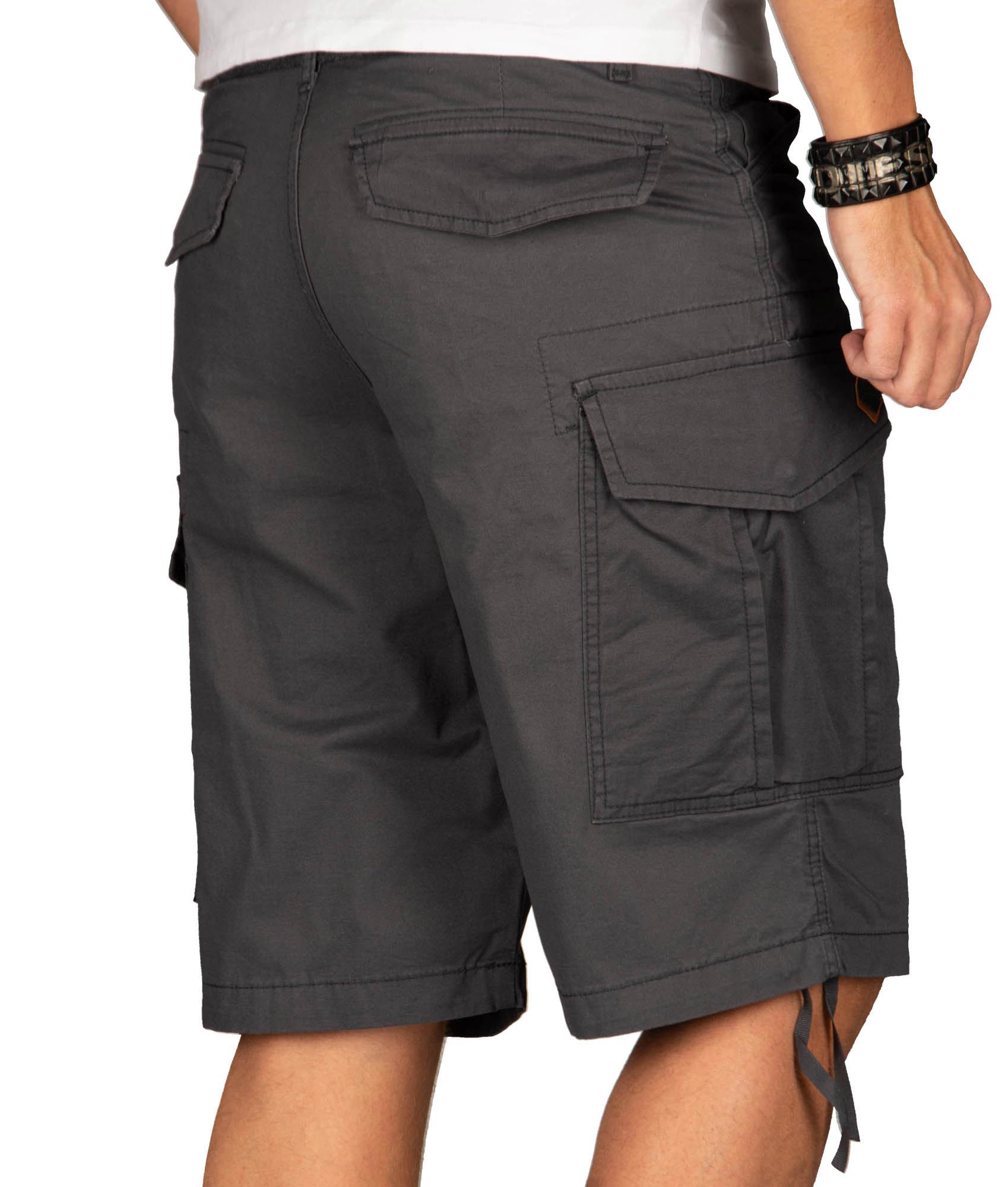 A-Salvarini-Herren-Comfort-Cargo-Shorts-Cargoshorts-kurze-Hose-Guertel-AS133-NEU Indexbild 8