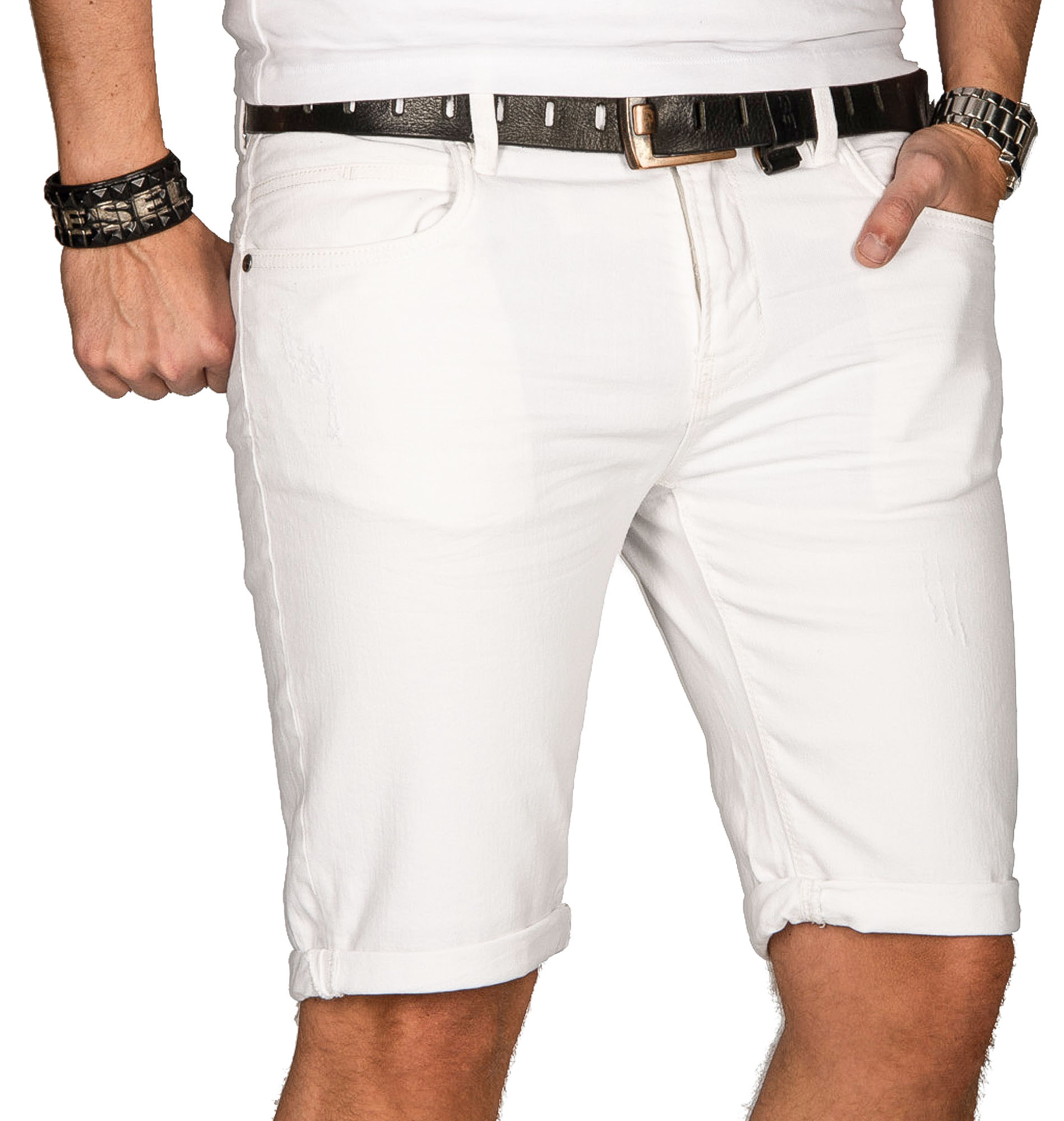 Indicode-Herren-Sommer-Bermuda-Jeans-Shorts-kurze-Hose-Sommerhose-Short-Neu-B556 Indexbild 15