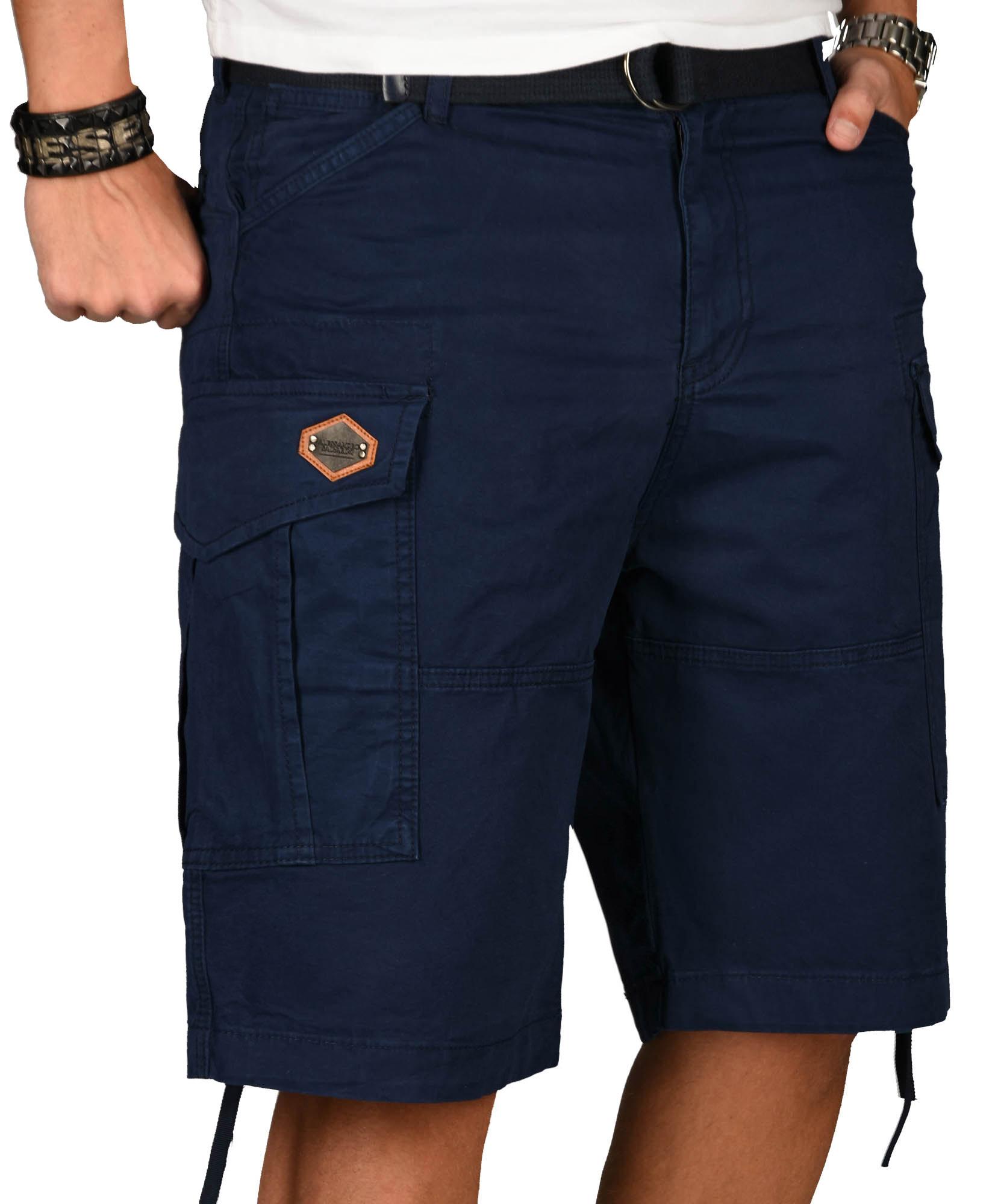 A-Salvarini-Herren-Comfort-Cargo-Shorts-Cargoshorts-kurze-Hose-Guertel-AS133-NEU Indexbild 19