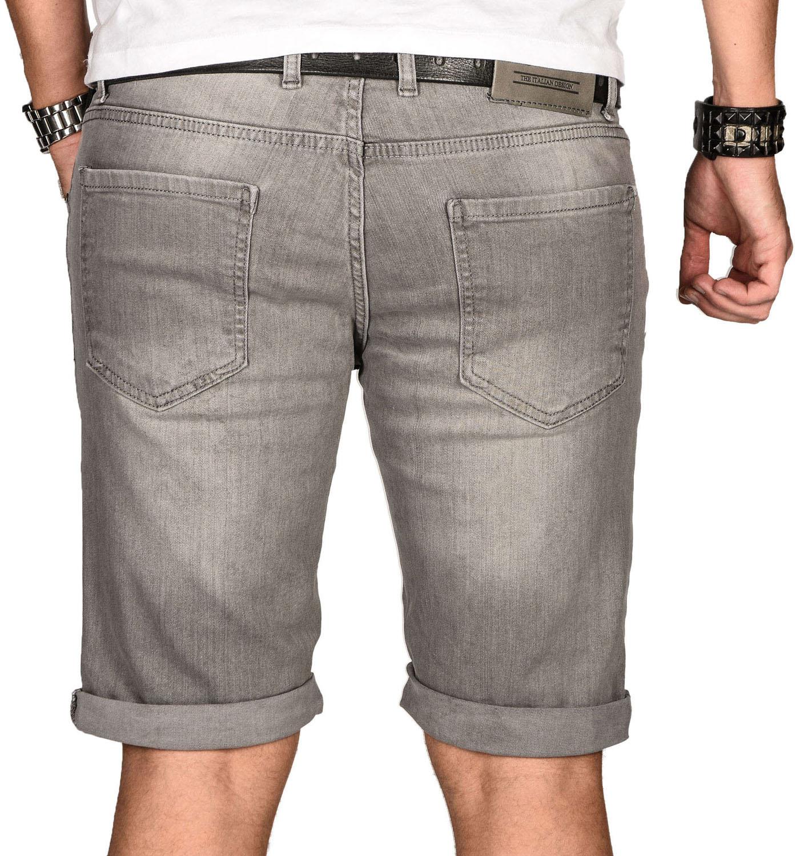 A-Salvarini-Herren-Designer-Jeans-Short-kurze-Hose-Slim-Sommer-Shorts-Bermuda Indexbild 18