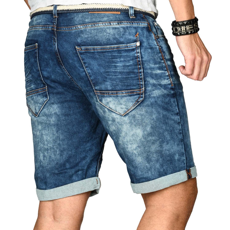 Sublevel-Herren-Shorts-Sweat-Jeans-kurze-Hose-Bermuda-Sommer-Short-Sweathose Indexbild 4