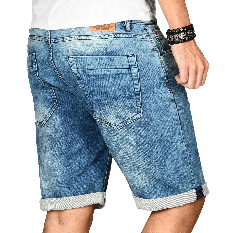 Sublevel-Herren-Shorts-Sweat-Jeans-kurze-Hose-Bermuda-Sommer-Short-Sweathose Indexbild 14