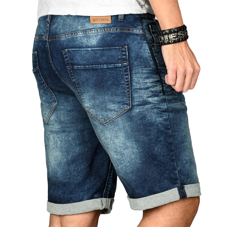 Sublevel-Herren-Shorts-Sweat-Jeans-kurze-Hose-Bermuda-Sommer-Short-Sweathose Indexbild 9
