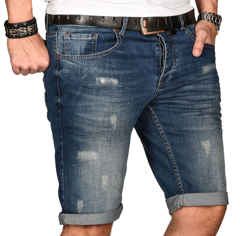 A-Salvarini-Herren-Designer-Jeans-Short-kurze-Hose-Slim-Sommer-Shorts-Bermuda Indexbild 41