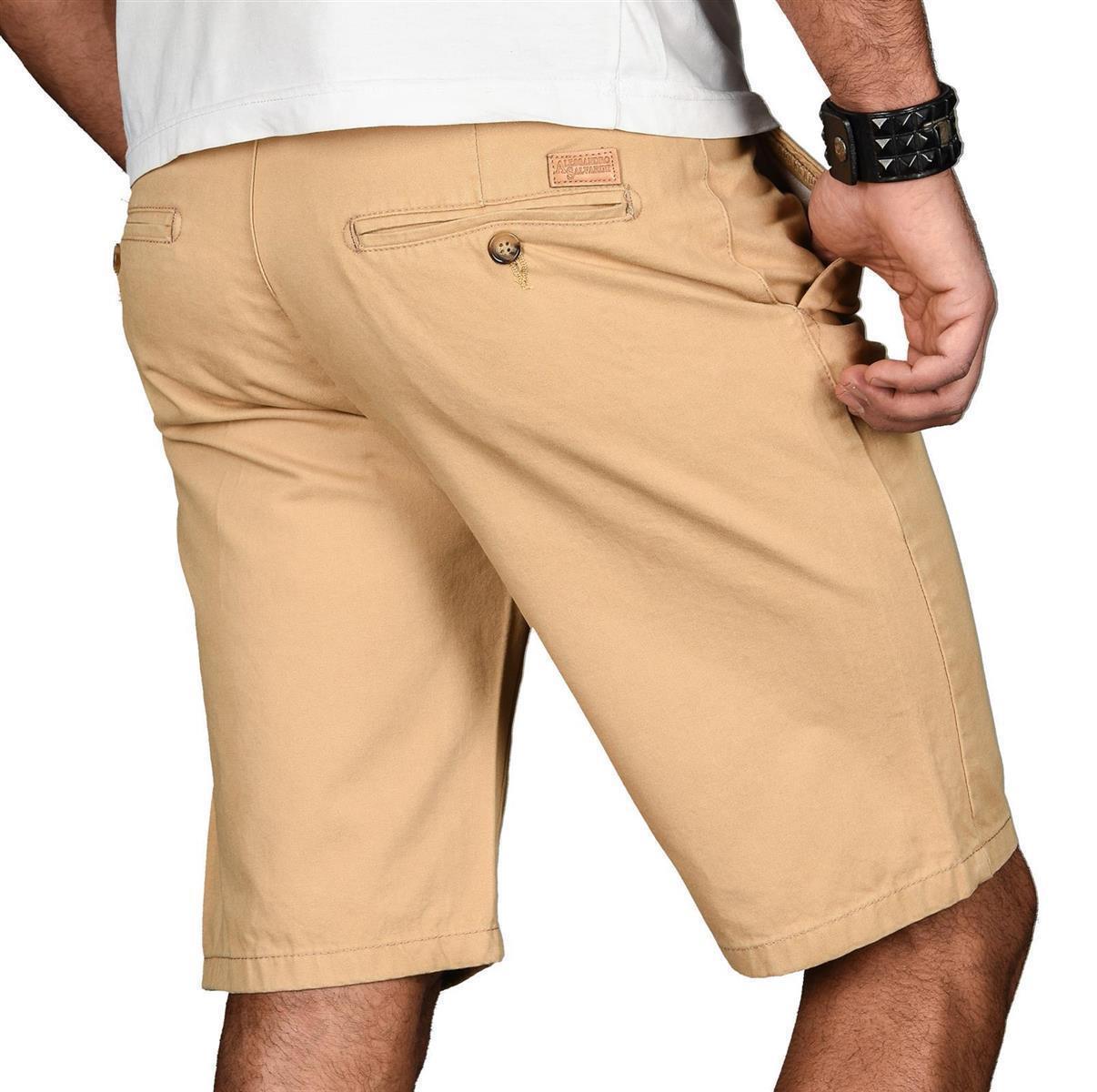A-Salvarini-Herren-Shorts-kurze-Sommer-Hose-mit-Guertel-Short-Bermuda-NEU-AS096 Indexbild 27