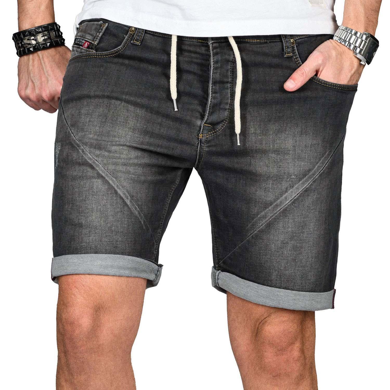 A-Salvarini-Herren-Jeans-Short-kurze-Hose-Sommer-Shorts-Bermuda-Comfort-fit-NEU Indexbild 30