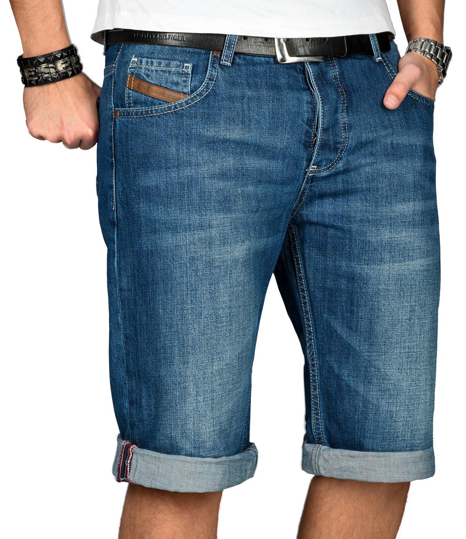 A-Salvarini-Designer-Herren-Jeans-Short-kurze-Sommer-Hose-Jeansshorts-Bermuda Indexbild 10
