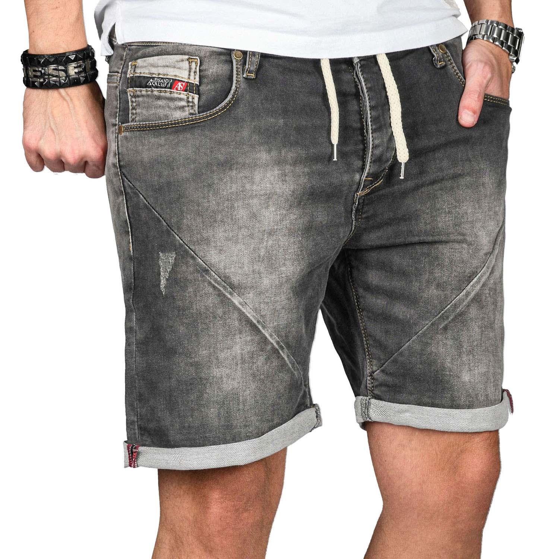 A-Salvarini-Herren-Jeans-Short-kurze-Hose-Sommer-Shorts-Bermuda-Comfort-fit-NEU Indexbild 38