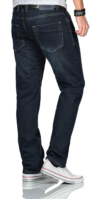 A-Salvarini-Beppo-Designer-Herren-Jeans-Hose-Basic-Jeanshose-Comfort-Fit Indexbild 21