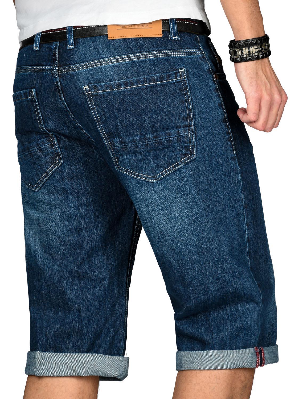 A-Salvarini-Designer-Herren-Jeans-Short-kurze-Sommer-Hose-Jeansshorts-Bermuda Indexbild 19