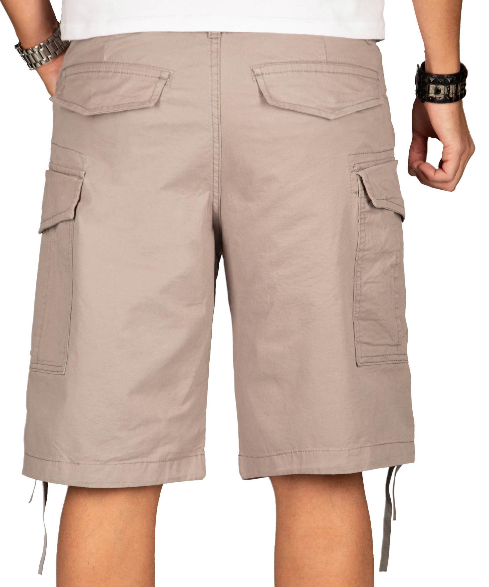 A-Salvarini-Herren-Comfort-Cargo-Shorts-Cargoshorts-kurze-Hose-Guertel-AS133-NEU Indexbild 17