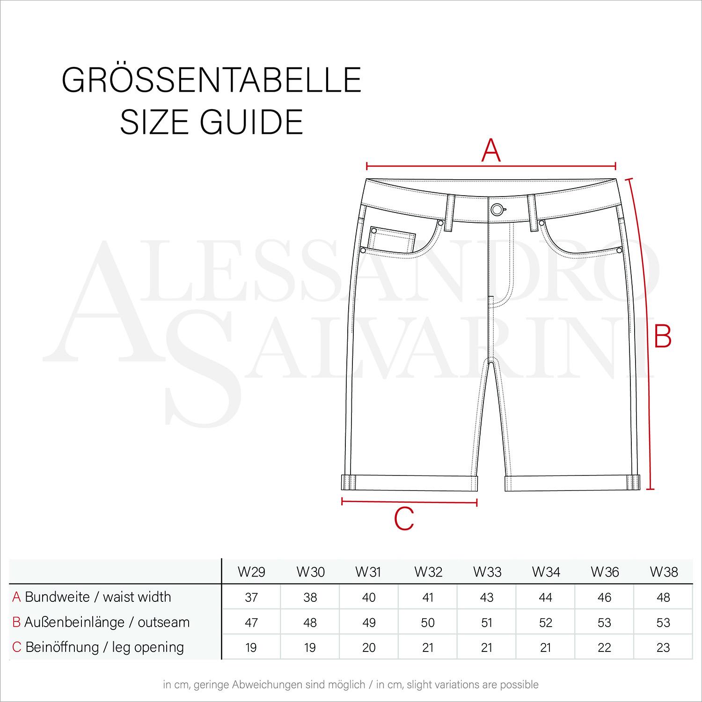 A-Salvarini-Herren-Designer-Jeans-Short-kurze-Hose-Slim-Sommer-Shorts-Bermuda Indexbild 6