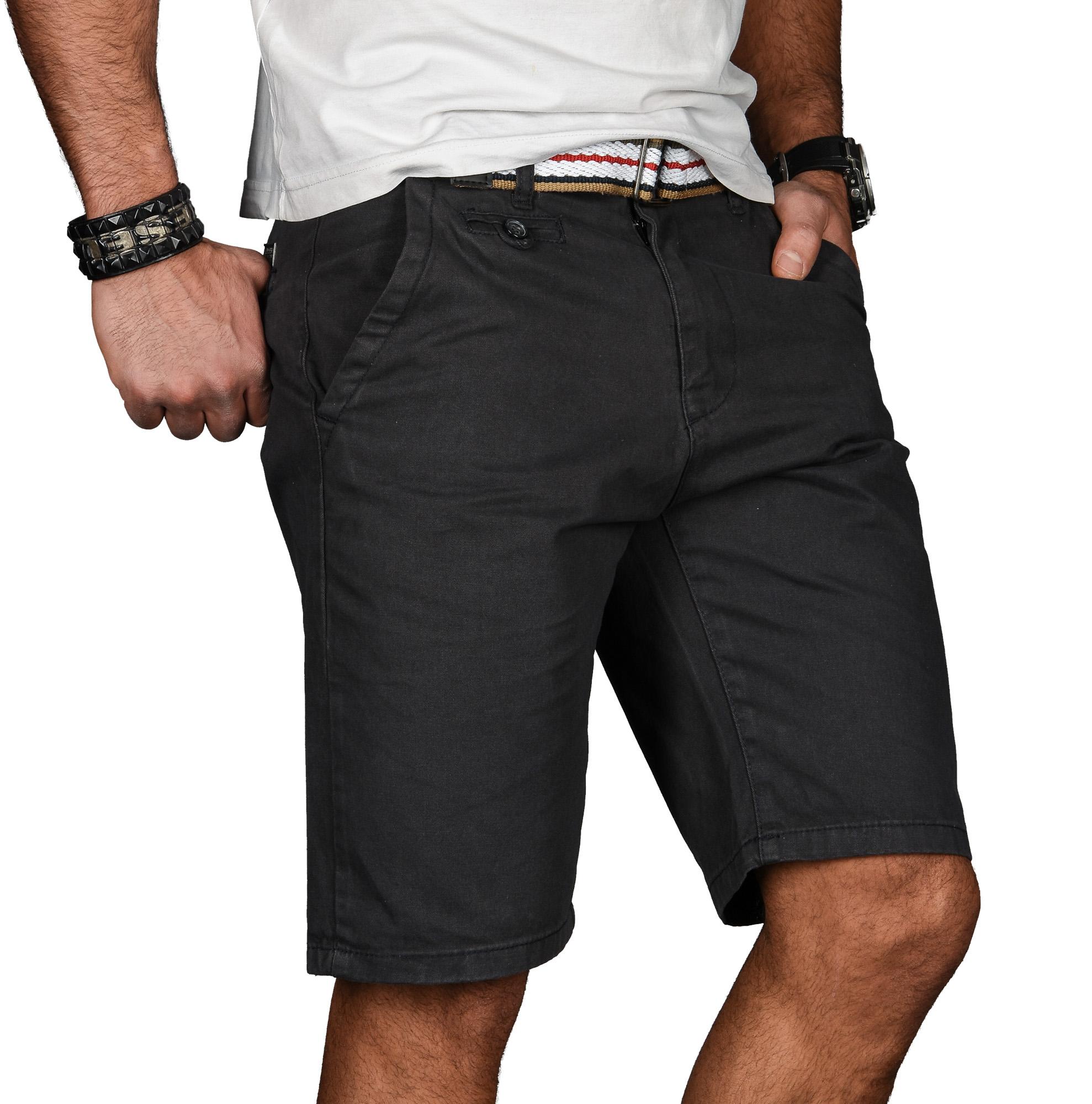 A-Salvarini-Herren-Shorts-kurze-Sommer-Hose-mit-Guertel-Short-Bermuda-NEU-AS096 Indexbild 17