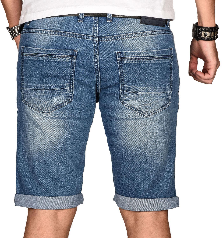 A-Salvarini-Herren-Designer-Jeans-Short-kurze-Hose-Slim-Sommer-Shorts-Bermuda Indexbild 5