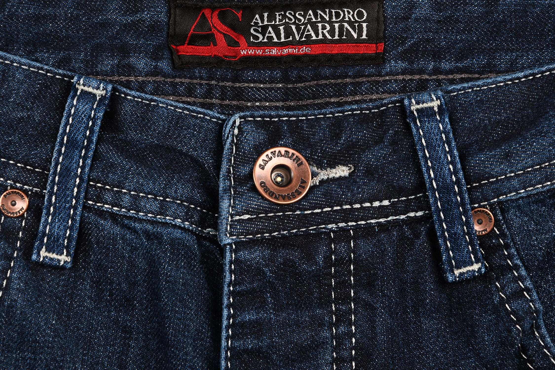A-Salvarini-Designer-Herren-Jeans-Short-kurze-Sommer-Hose-Jeansshorts-Bermuda Indexbild 21