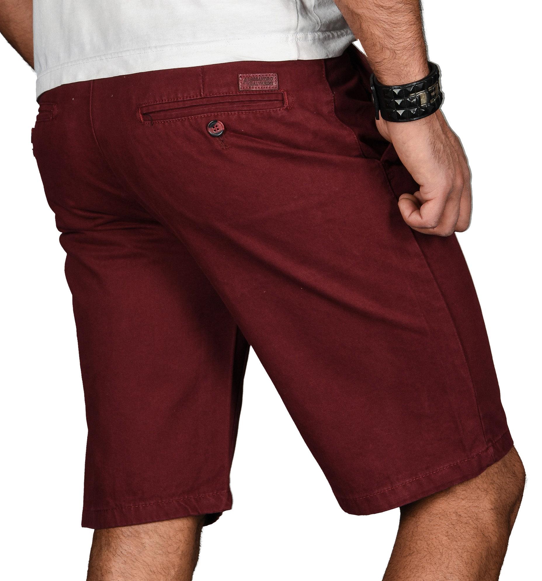 A-Salvarini-Herren-Shorts-kurze-Sommer-Hose-mit-Guertel-Short-Bermuda-NEU-AS096 Indexbild 34