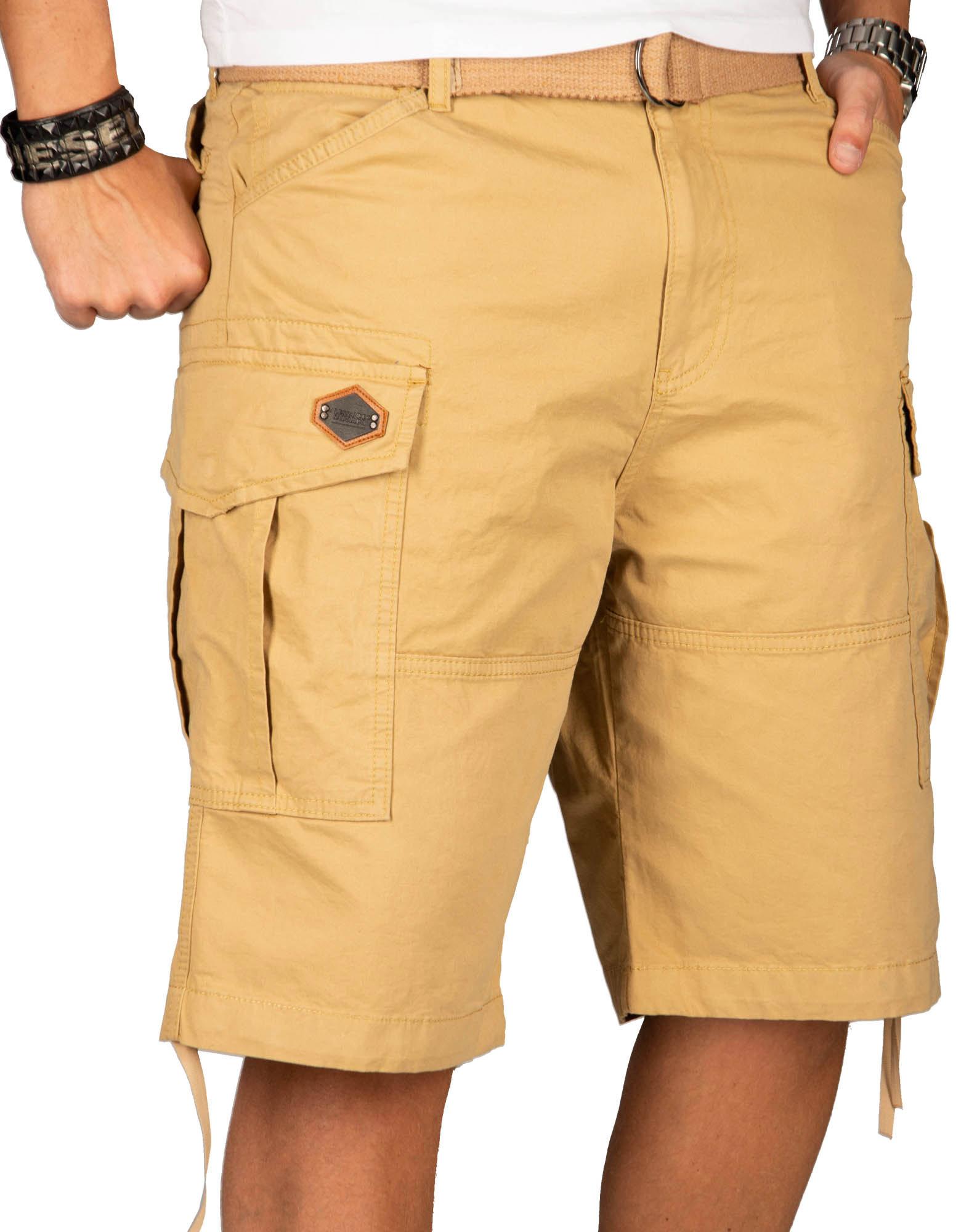 A-Salvarini-Herren-Comfort-Cargo-Shorts-Cargoshorts-kurze-Hose-Guertel-AS133-NEU Indexbild 27