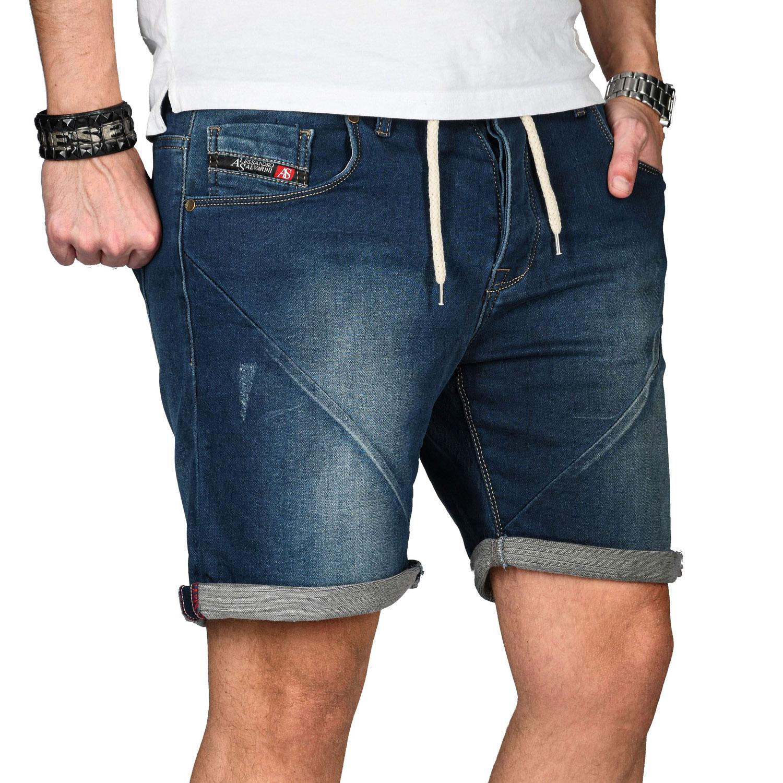 A-Salvarini-Herren-Jeans-Short-kurze-Hose-Sommer-Shorts-Bermuda-Comfort-fit-NEU Indexbild 24