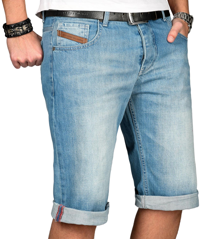 A-Salvarini-Designer-Herren-Jeans-Short-kurze-Sommer-Hose-Jeansshorts-Bermuda Indexbild 3