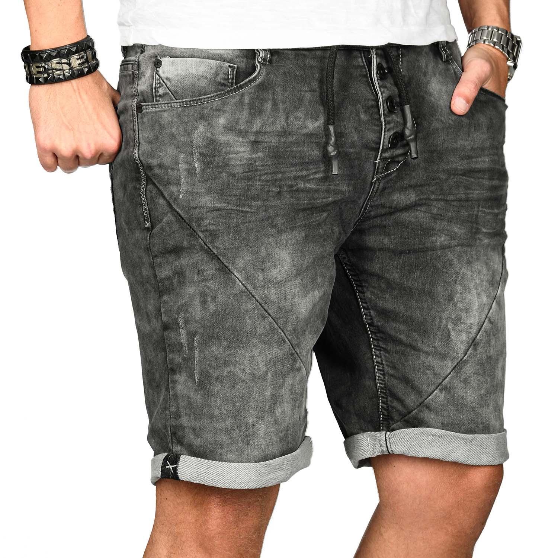 Sublevel-Herren-Shorts-Sweat-Jeans-kurze-Hose-Bermuda-Sommer-Short-Sweathose Indexbild 28