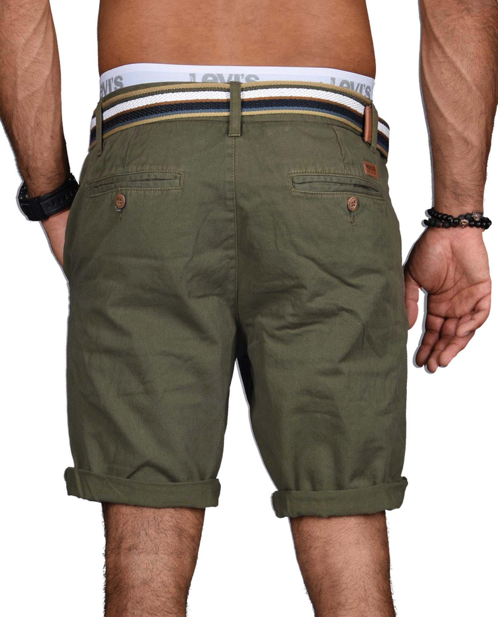 Indicode-Herren-Sommer-Bermuda-Chino-Shorts-kurze-Hose-Sommerhose-Short-NEU-B499 Indexbild 21