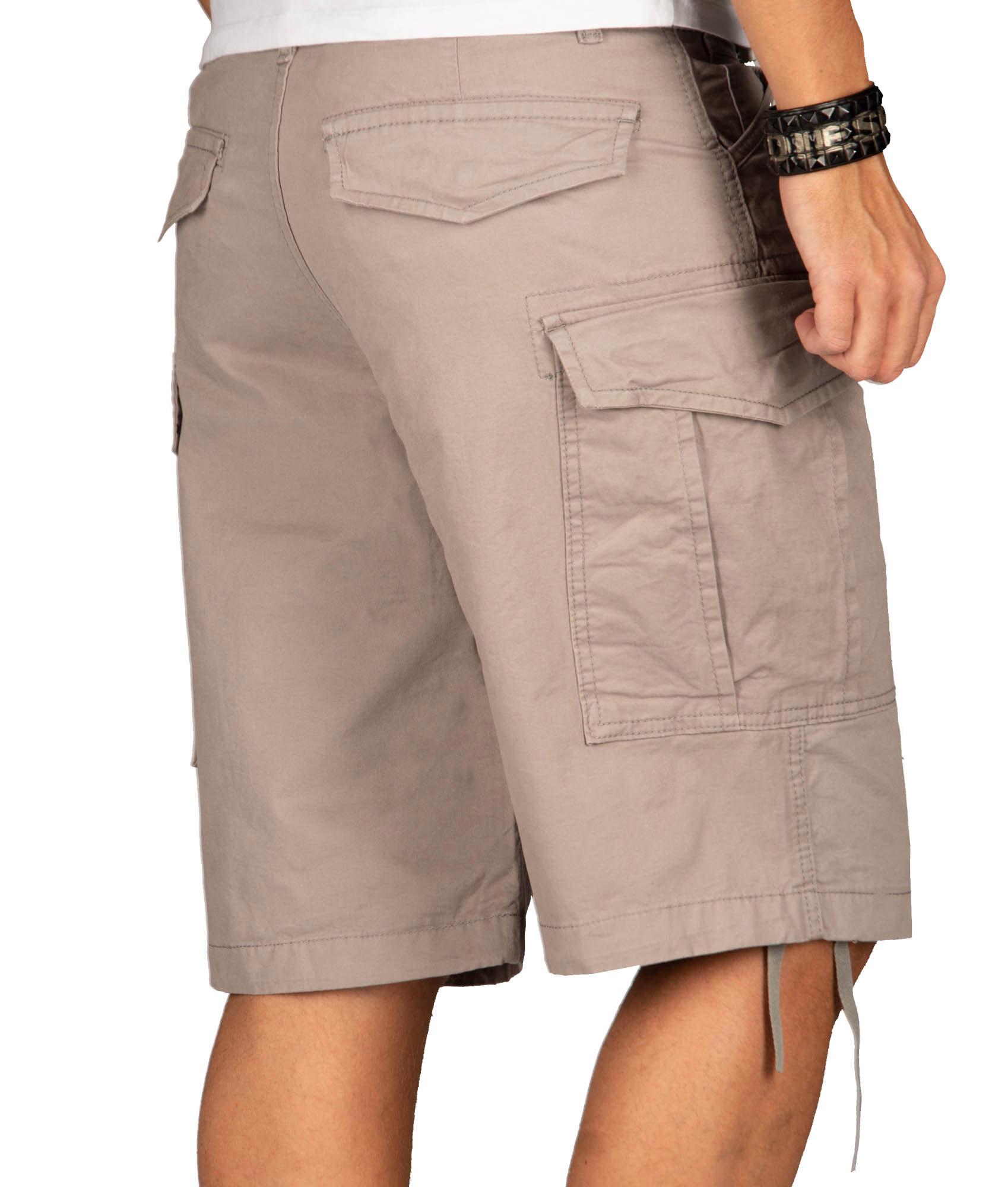 A-Salvarini-Herren-Comfort-Cargo-Shorts-Cargoshorts-kurze-Hose-Guertel-AS133-NEU Indexbild 16