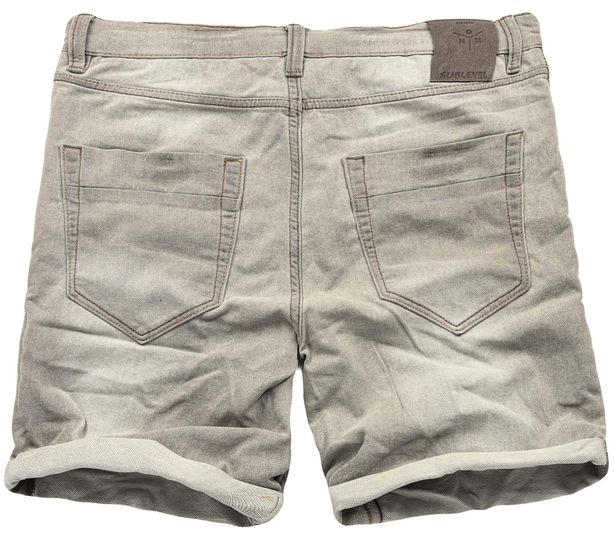 Sublevel-Herren-Sweat-Jeans-Shorts-kurze-Hose-Bermuda-Sommer-Sweathose-Slim-NEU Indexbild 21