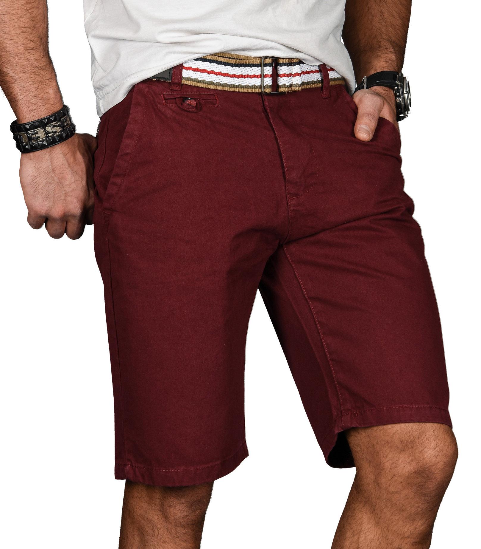 A-Salvarini-Herren-Shorts-kurze-Sommer-Hose-mit-Guertel-Short-Bermuda-NEU-AS096 Indexbild 33