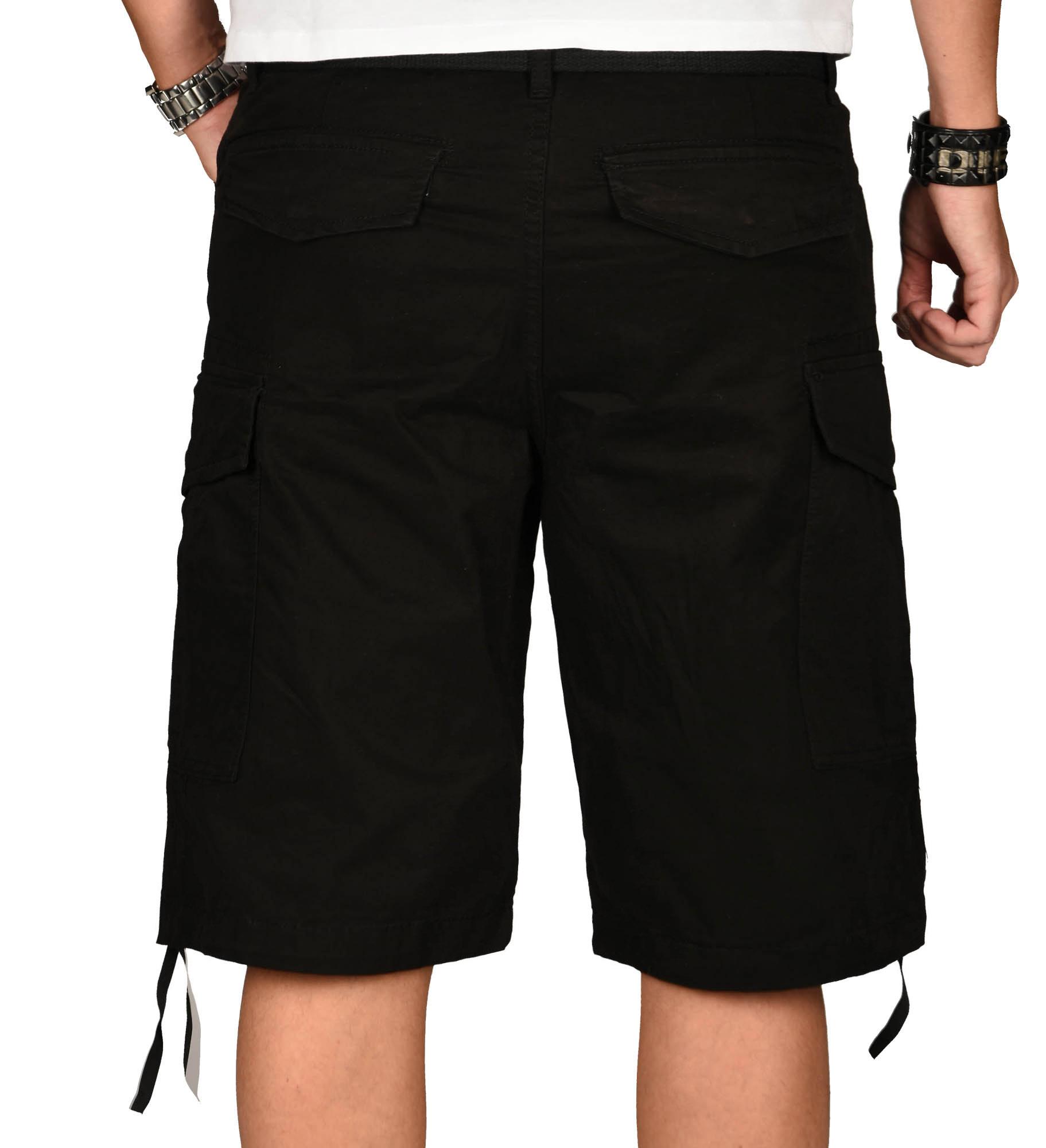 A-Salvarini-Herren-Comfort-Cargo-Shorts-Cargoshorts-kurze-Hose-Guertel-AS133-NEU Indexbild 5