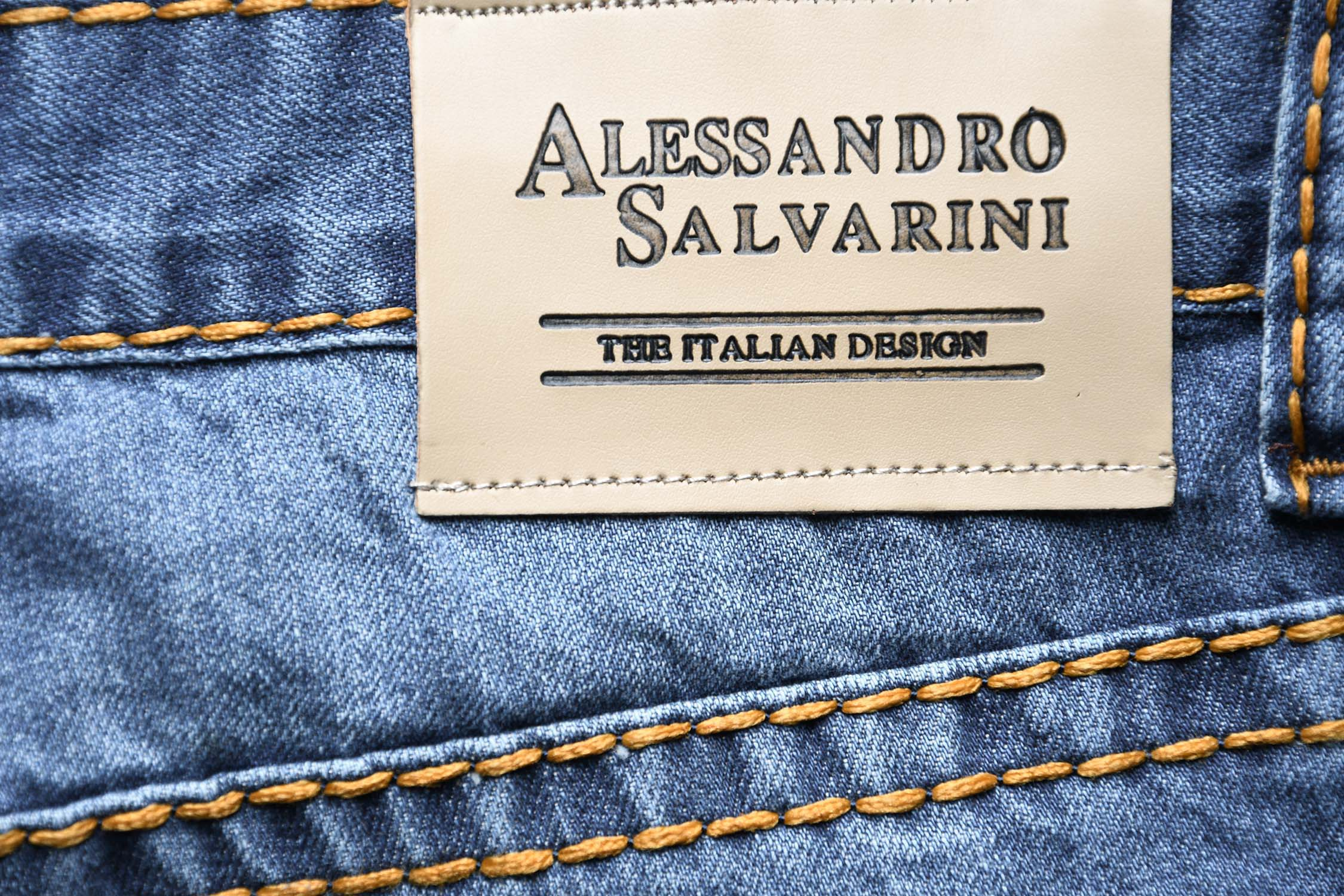 A-Salvarini-Herren-Jeans-Hose-dicke-Naehte-Jeanshose-Comfort-Fit-gerades-Bein Indexbild 17