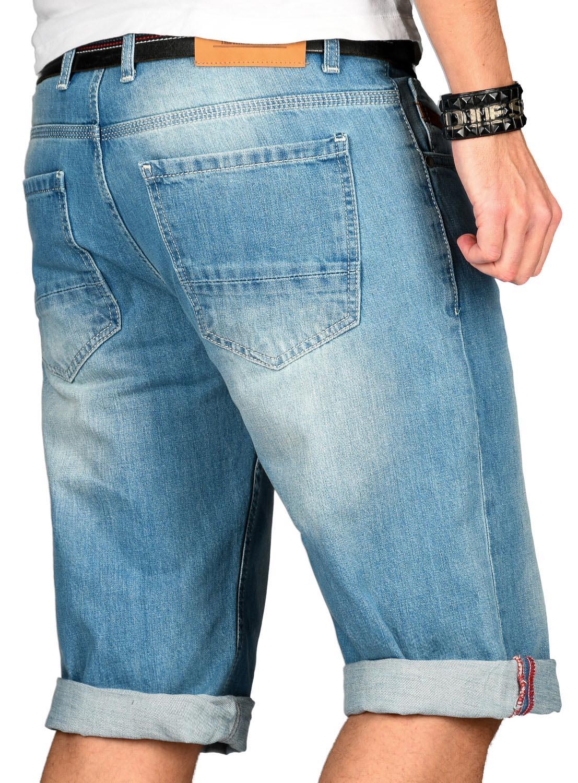 A-Salvarini-Designer-Herren-Jeans-Short-kurze-Sommer-Hose-Jeansshorts-Bermuda Indexbild 4