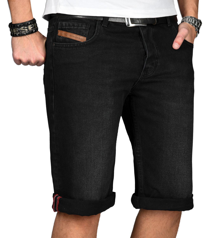 A-Salvarini-Designer-Herren-Jeans-Short-kurze-Sommer-Hose-Jeansshorts-Bermuda Indexbild 26