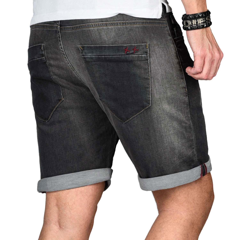 A-Salvarini-Herren-Jeans-Short-kurze-Hose-Sommer-Shorts-Bermuda-Comfort-fit-NEU Indexbild 32