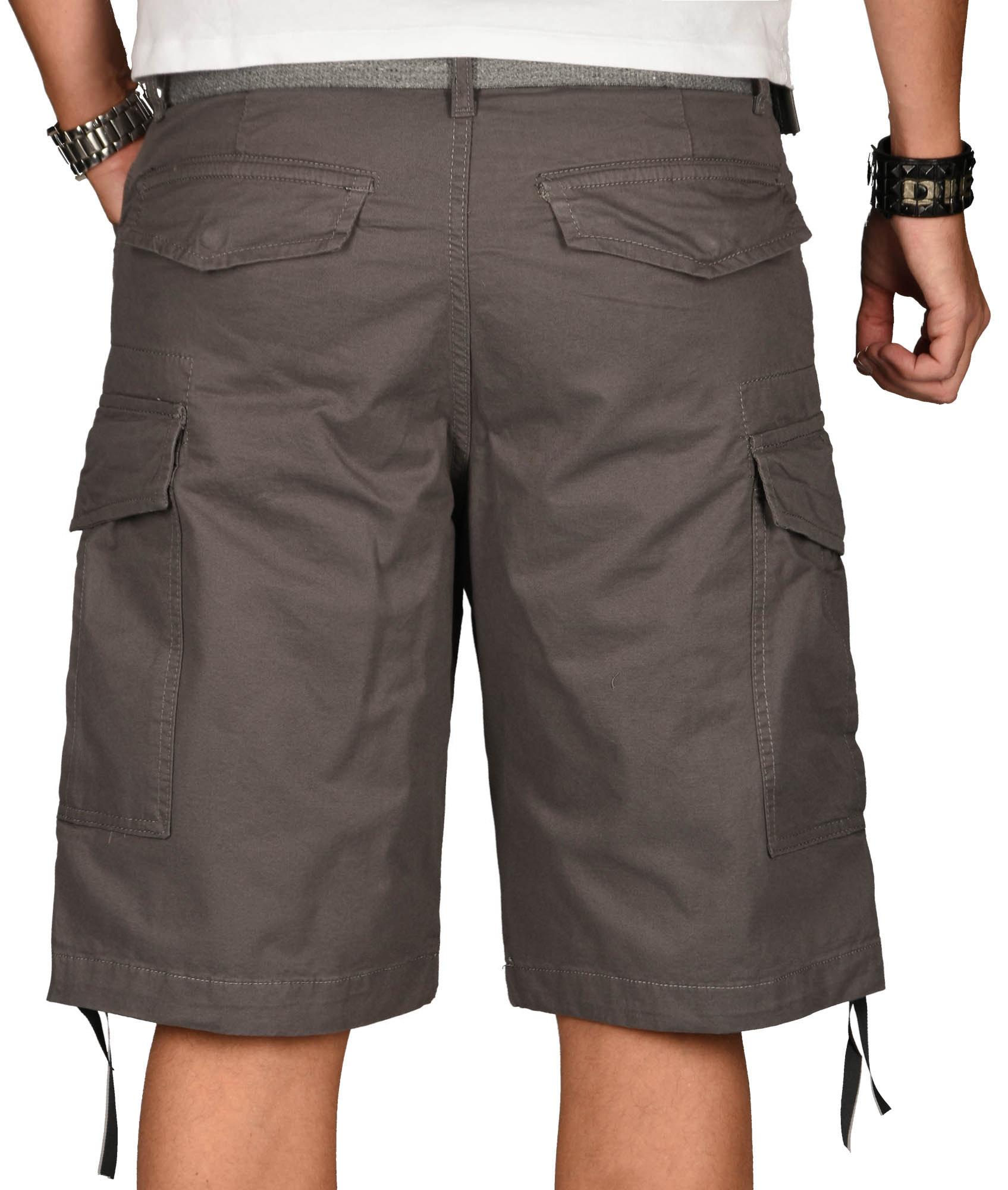 A-Salvarini-Herren-Comfort-Cargo-Shorts-Cargoshorts-kurze-Hose-Guertel-AS133-NEU Indexbild 13