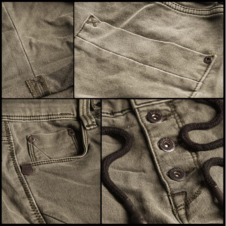 Sublevel-Herren-Sweat-Jeans-Shorts-kurze-Hose-Bermuda-Sommer-Sweathose-Slim-NEU Indexbild 48