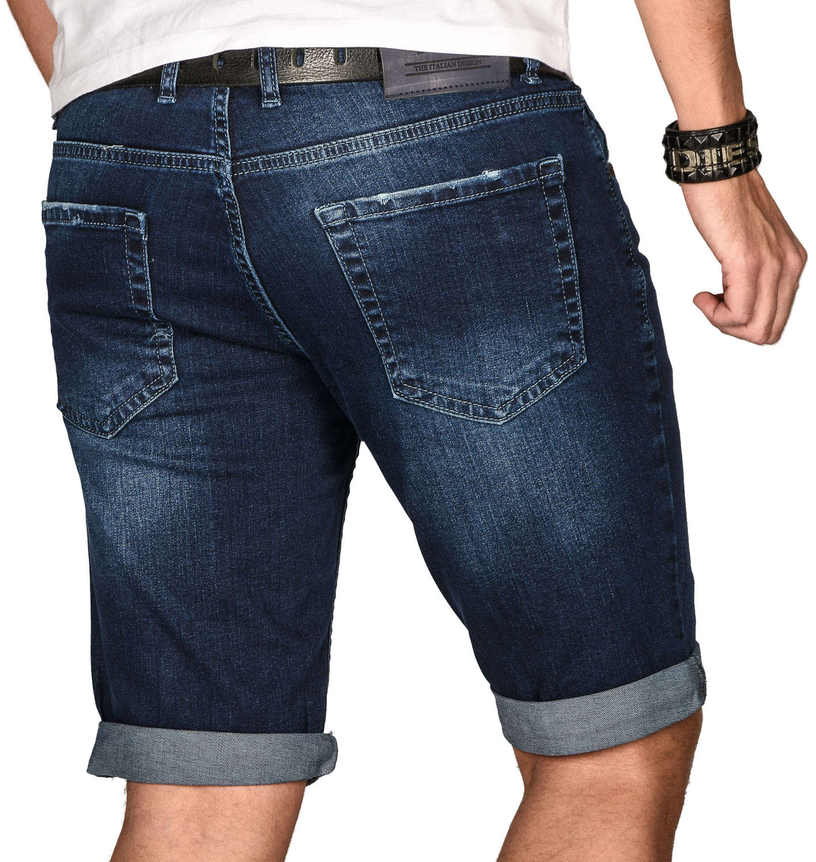 A-Salvarini-Herren-Designer-Jeans-Short-kurze-Hose-Slim-Sommer-Shorts-Bermuda Indexbild 38