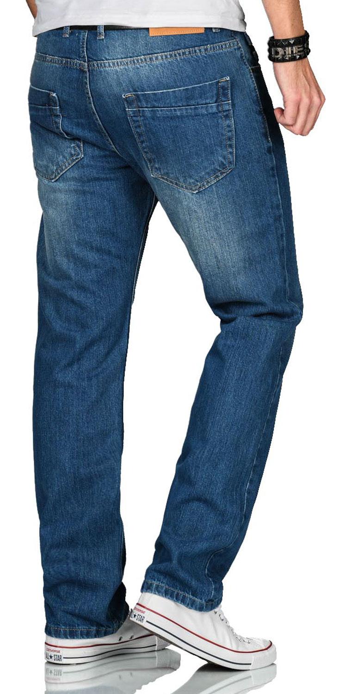 A-Salvarini-Beppo-Designer-Herren-Jeans-Hose-Basic-Jeanshose-Comfort-Fit Indexbild 5
