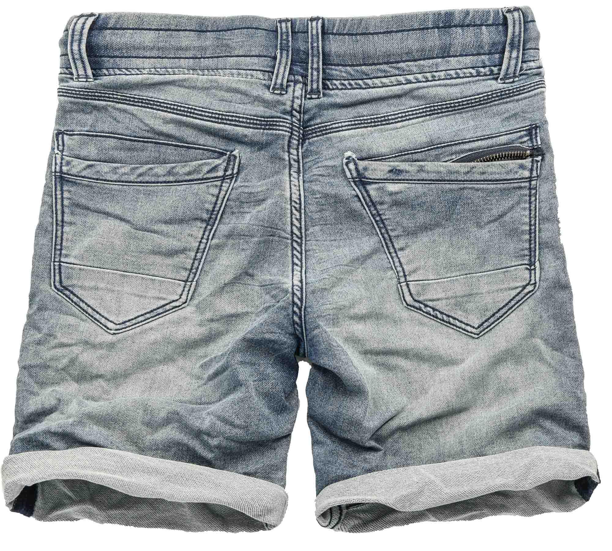 Sublevel-Herren-Sweat-Jeans-Shorts-kurze-Hose-Bermuda-Sommer-Sweathose-Slim-NEU Indexbild 12